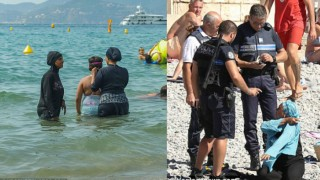 France: Muslim woman fined and forced to remove burkini by cops